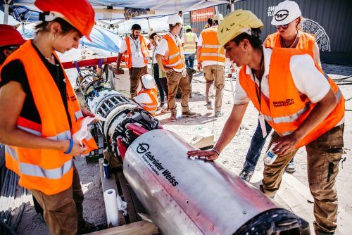 Die mit dem Innovations-Award ausgezeichnete Tunnelbohrmaschine von Swissloop Tunneling. GW