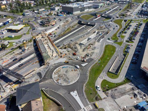 Die Neuerrichtung der Anschlussstelle Bludenz-Bürs befindet sich in der finalen Etappe. vn/Stiplovsek