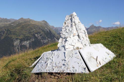 Die neun Künstler wurden von der Bergkulisse der Silvretta inspiriert.SilvrettAtelier Montafon