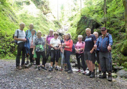 Die Schwarzacher Senioren machten eine Halbtageswanderung von Dornbirn-Watzenegg nach Haselstauden.Seniorenbund Schwarzach