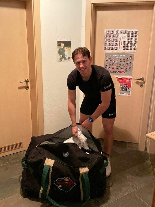 Die Taschen sind gepackt, die Reise kann losgehen: Marco Rossi fliegt heute nach St. Paul, am Montag geht es mit dem Trainingslager bei den Minnesota Wild los. Mir