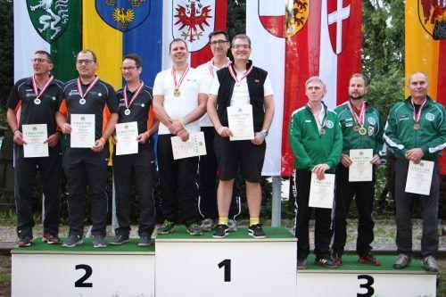 Die Team-Staatsmeister Manfred Bechter, Sladjan Zoran und Lothar Kündig (v. l.).ÖSB