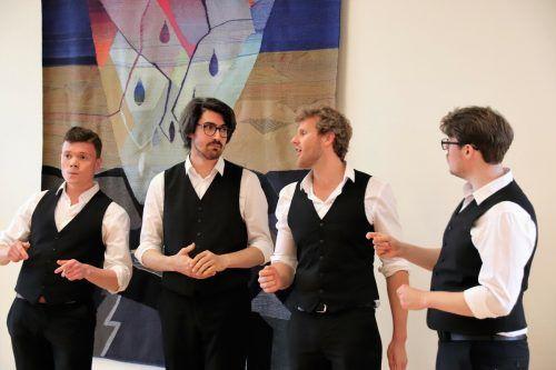 """Die vier jungen Musiker interpretierten gekonnt ihre """"Barbershop""""-Songs. wam/5"""