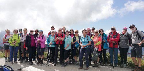 Die Wanderfreunde vom Seniorenbund erlebten schöne Tage im Kleinwalsertal.Seniorenbund