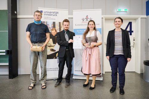 Die wissenschaftliche Arbeit von Annika Weidmann wurde mit dem ersten Platz des Hans-Riegel-Fachpreises für Physik ausgezeichnet. Universität Innsbruck