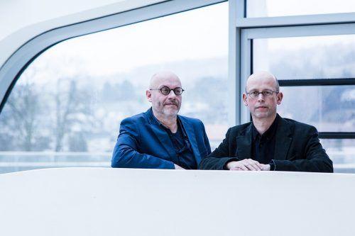 Die Zwischentöne-Leiter Folkert Uhde und Hans-Joachim Gögl. Si
