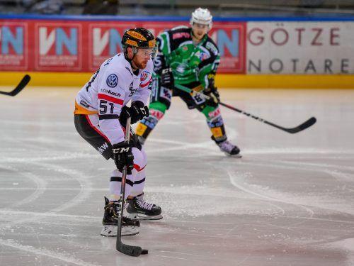 Dylan Stanley erzielte im Test gegen Freiburg zwei Tore für die VEU Feldkirch.lerch