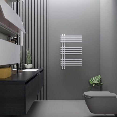 Elektrobadheizkörper aus der Serie Terra von anapont machen an der Wand eine gute Figur und sorgen für wohlige Wärme.epr/anapont