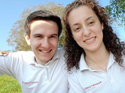 Elija Jenny ganz privat mit seiner Lebensgefährtin Phoebe, die ebenfalls beim Samariterbund tätig ist.privat