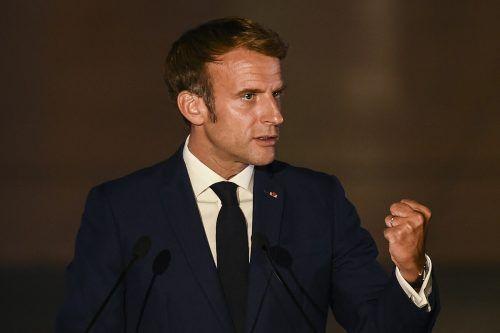Er werde in den kommenden Tagen mit Biden telefonieren, sagt Macron. AFP