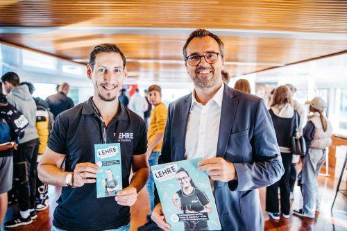 Event-Manager Harald Knebel und Leiter des Regionalverkaufs Markus Kirschner.