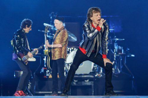 Geben trotzdem weiter Vollgas: Die Rolling Stones. afp
