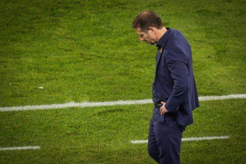 Gesenkten Hauptes musste Franco Foda (55) in seinem 42. Spiel als Teamchef der österreichischen Nationalmannschaft die 13. Niederlage über sich ergehen lassen.gepa