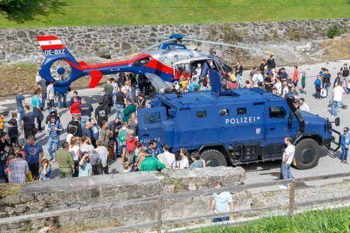 Großes Publikumsinteresse herrschte beim Sicherheitstag in Frastanz.