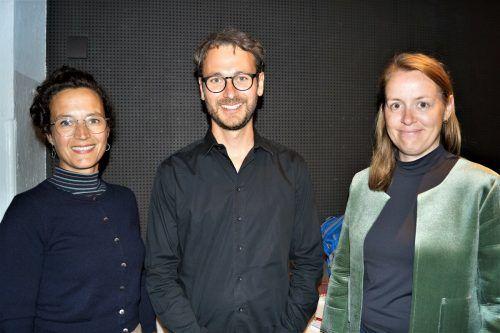 Grünenpolitiker Eva Hammerer, Daniel Zadra und Klubdirektorin Christine Bösch-Vetter.Yas/4