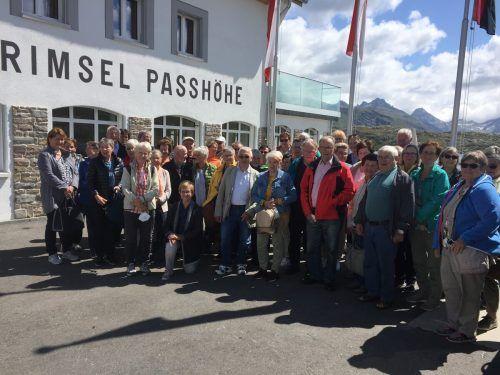 Gruppenbild auf dem Grimselpass. Seniorenbund Lustenau