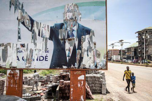 Guiena nach dem Militärputsch: Die Anführer des Coups nanntenBedingungen für die Freilassung des abgesetzten Präsidenten Alpha Condé. AFP