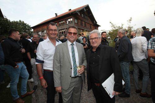 Herbert Brunner (l.) sowie Peter Haug und Matthias Ammann.