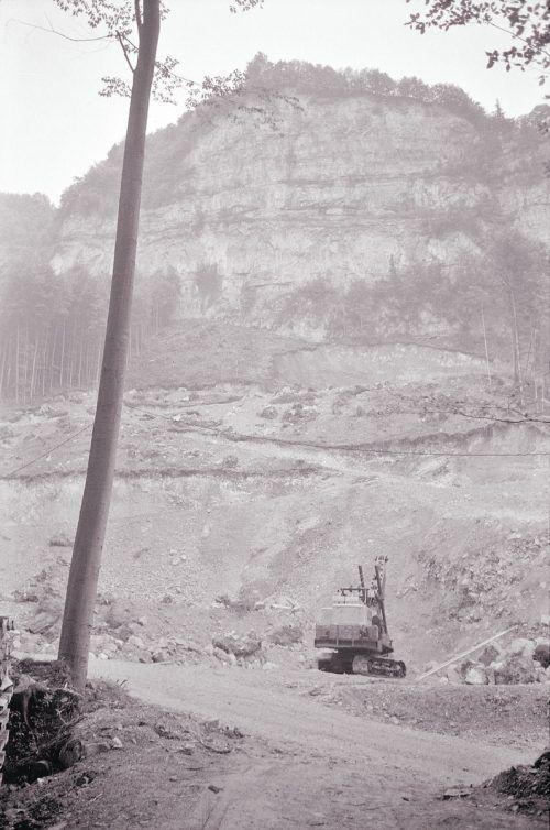 Hohenems, Steinbruch, 1968