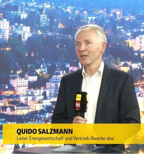 """illwerke vkw-Vertriebsleiter Quido Salzmann bei """"Vorarlberg live""""."""