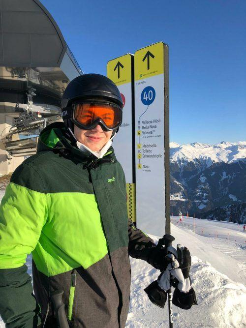 Im Winter ist er dafür regelmäßig mit seinen Ski unterwegs.