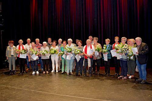 Jahreshauptversammlung des PVÖ Bludenz: Viele Mitglieder konnten für ihre langjährige Mitgliedschaft geehrt werden.PVÖ