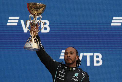 """Jubiläumstriumph für Lewis Hamilton: """"Die Nummer 100 hat so lange gedauert, ich wusste gar nicht, ob sie überhaupt noch kommt."""" Reuters"""