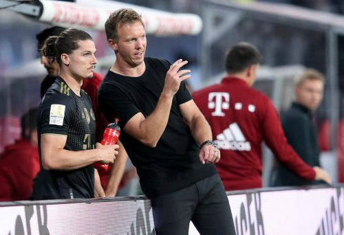Julian Nagelsmann könnte Marcel Sabitzer heute für die Bayern starten lassen.apa