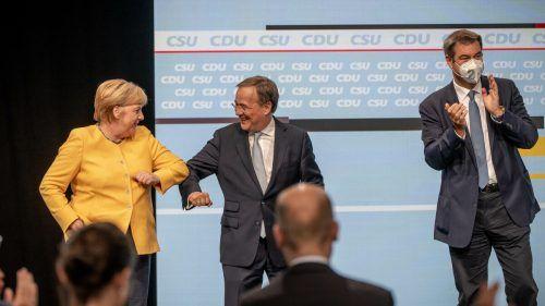 Laschet tat sich im Wahlkampf oft schwer. Merkel geht in Politpension.DPA