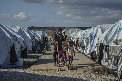 Leben für Flüchtlinge offenbar weiterhin menschenunwürdig. AFP