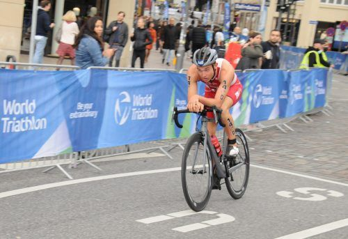 Leon Pauger zeigte in Hamburg mit der Tagesbestmarke auf der Radstrecke auf.Privat