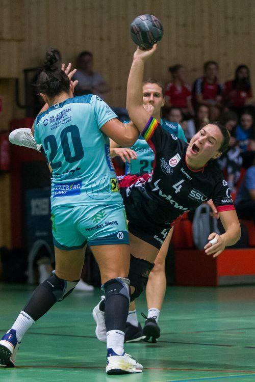 Lidiya Kovacheva erzielte beim 29:26 gegen die BT Füchse elf Tore.Steurer