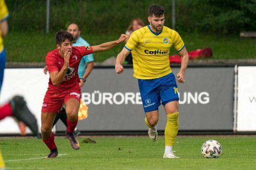 Maurice Wunderli traf in Egg dreimal für den VfB Hohenems.stiplovsek