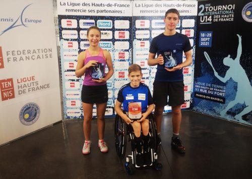 Maxi Taucher (Mitte) startete mit Turniersieg in den Herbst.mima