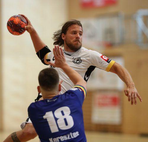 Mit den klaren Erfolgen gegen Westwien und in Ferlach gelang Kapitän Lukas Frühstück und Bregenz Handball ein Saisonstart nach Maß.GEPA