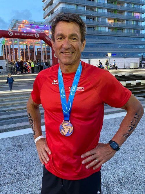 Nach EM-Bronze freute sich Peter Schott nun über WM-Bronze.Privat