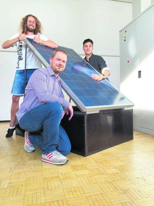 Nikolai Franzke (links), Max Gaiser (rechts) und Pascal Ferkinghoff (vorne). Nicht auf dem Bild ist Katharina Senf.Illwerke VKW