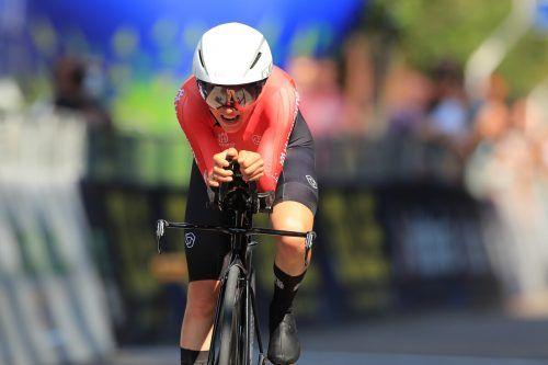 Olympiasiegerin Anna Kiesenhofer musste sich mit Platz 17 zufriedengeben. gepa
