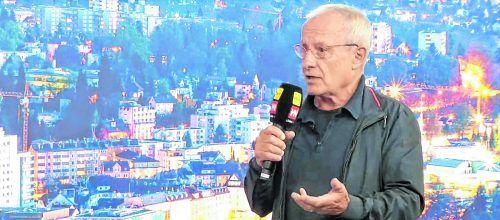 "Peter Pilz im Studio von ""Vorarlberg live""."