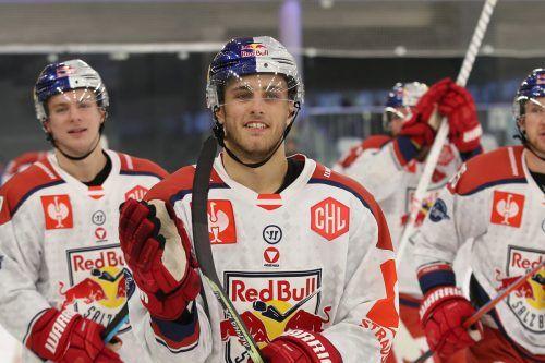 Premierentorschütze in der neuen Eishockeysaison: Kilian Zündel.gepa