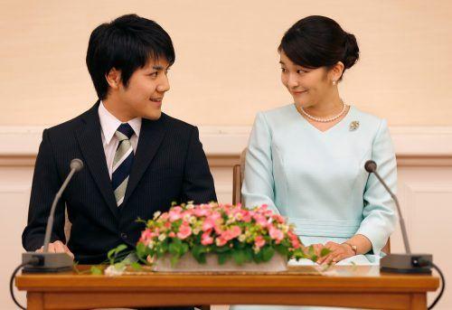 Prinzessin Mako und Kei Komuro sind seit 2017 verlobt.AFP
