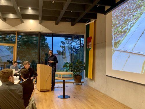 Projektleiter Markus Mähr informiert die Lustenauer Gemeindevertretung. Gemeinde