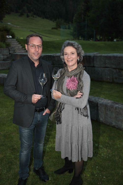 Roland Kuster (Amann Kaffee) und Natascha Quester (Fuhrgassl-Huber).