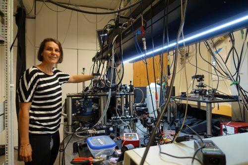 Simone Schuler im Labor.Natter