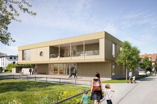 So wird das neue Kinderhaus in Schwarzach nach der FertigstellungEnde kommenden Jahres aussehen.