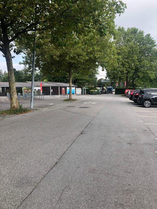 ... sondern etwa auch in der Stadionstraße in Gisingen. VN/WIM