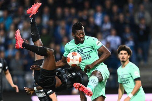 Sturm Graz musste gegen PSV Eindoven eine klare 1:4-Heimniederlage in der Europa League hinnehmen. Die zweite Pleite im zweiten Spiel. apa