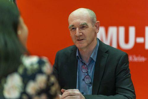 Thomas Oberholzner, Institutsleiter von KMU Forschung Austria, referierte bei der KMU-Preisverleihung. vn/PAulitsch