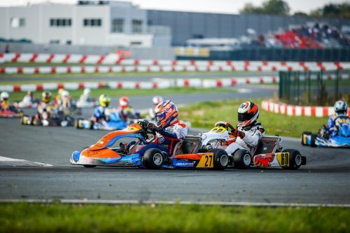 Viele Rad-an-Rad-Kämpfe sind das Salz in der Suppe im Kartsport, am Ende distanzierte Kiano Blum (27) die Konkurrenz um fünf Sekunden.