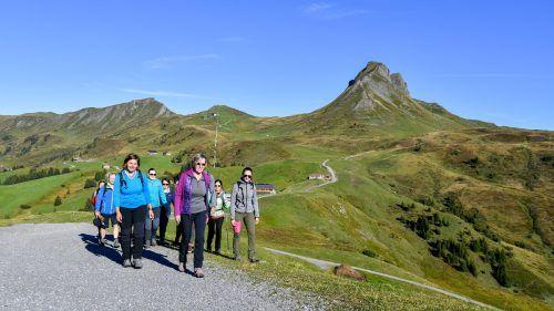 VN-Gipfelstürmer unterwegs: Erlebnisreiche Bergtour auf die Mittagsspitze mit Heike Bechtold. VN/Lerch